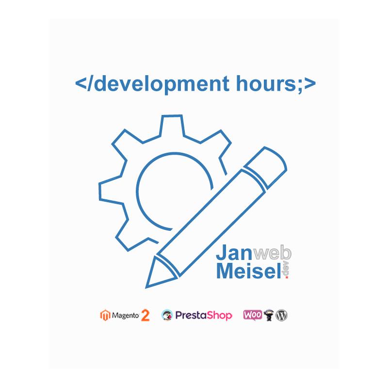 webshop development hours